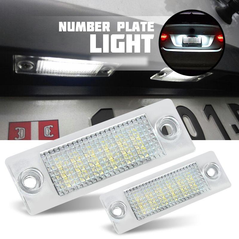 2x Lizenz Nummer Platte Licht Lampe 18-LED Für VW Caddy Transporter Passat Golf Touran Jetta Für Skoda Keine fehler
