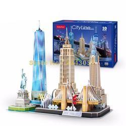 MC255 123 Pcs Kota Line New York DIY 3D Teka-teki Kertas Model
