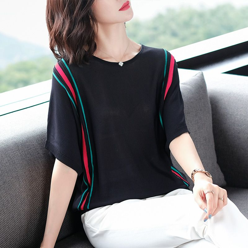 Summer Women Pullover White Tops Short Sleeve Casual New Arrival 2019 Korea sweater Lady Pull Femme Hiver Black Knitwear