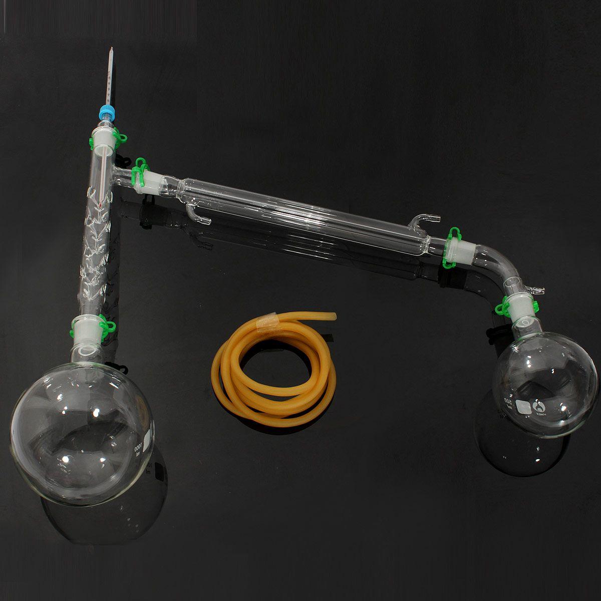 1000 ml Destillation Gerät Labor Chemie Glaswaren Kit Set Chemie Labor Glas Destillation Destillation Gerät 24/29
