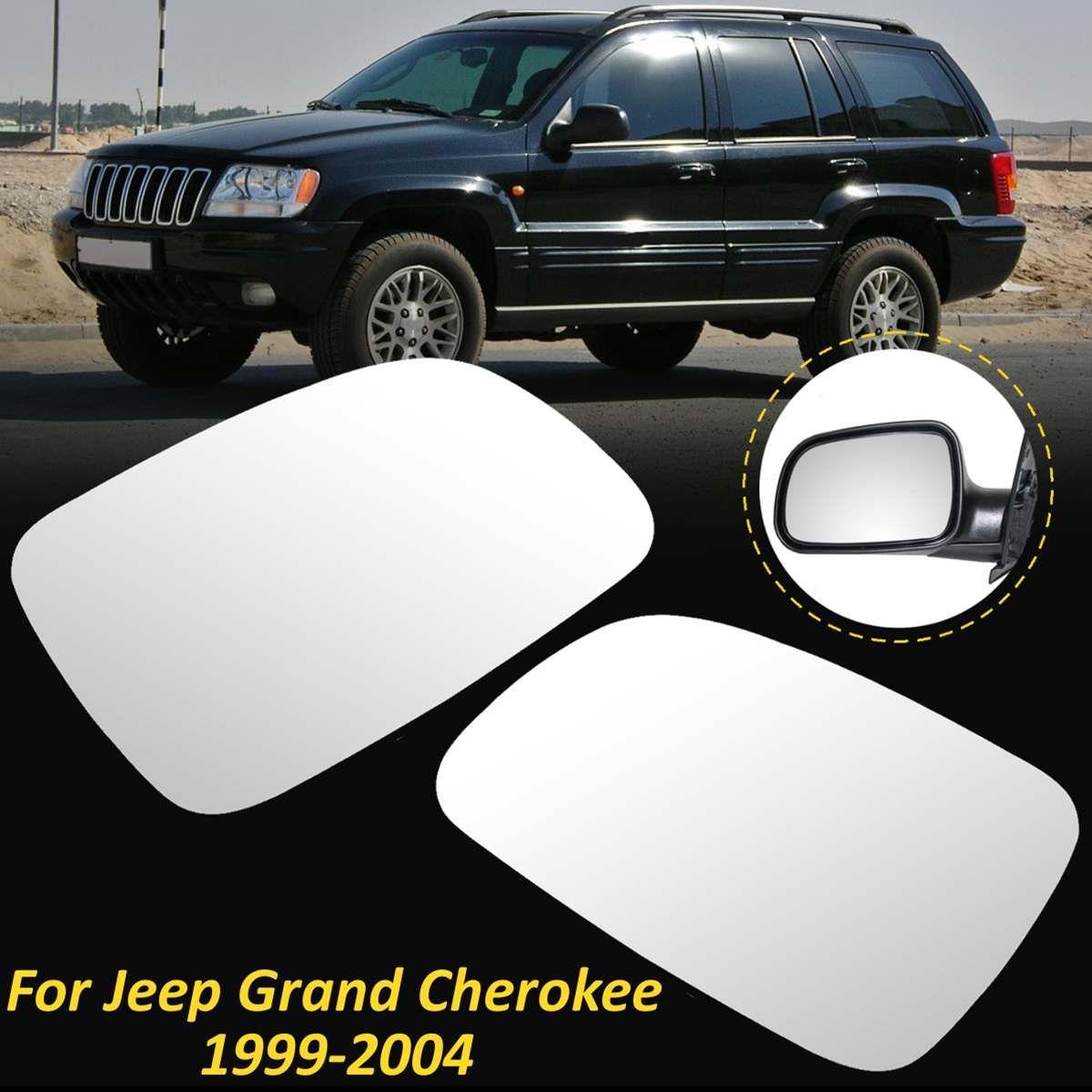1 para Auto Links Rechts Seite Rück Flügel Spiegel Glas Objektiv + Beheizten Objektiv Für Jeep Grand Cherokee 1999 2000 2001 2002 2003 2004