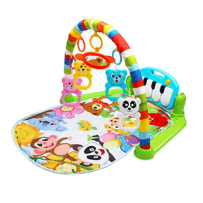 Bébé jouer musique tapis tapis jouets enfant ramper jouer tapis jeu développer tapis avec Piano clavier infantile tapis début éducation Rack jouet