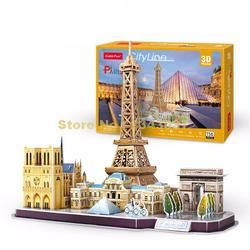 Cubicfun MC254 114 Pcs City Line Paris DIY 3D Teka-teki Kertas Model