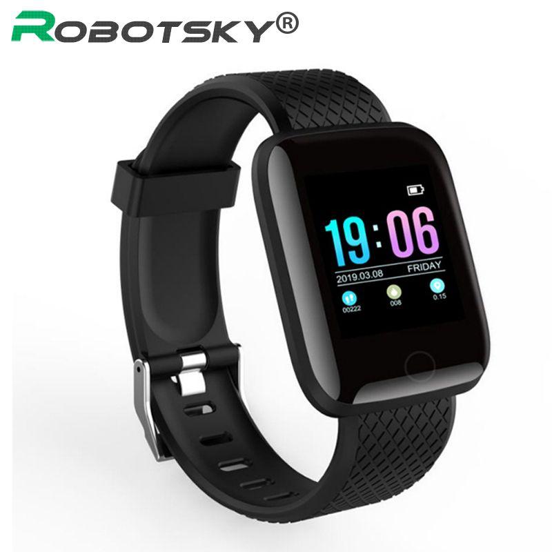 Robotsky D13 montre intelligente hommes 1.3 pouces écran couleur moniteur de fréquence cardiaque Fitness Tracker Smartwatch femmes pour téléphone Android IOS