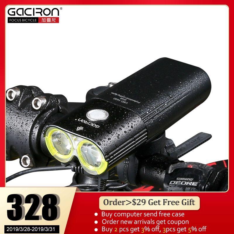 GACIRON Fahrrad Front Scheinwerfer Radfahren Fahrrad Aufladbare Taschenlampe IPX6 Wasserdichte 5000 mAh 1600 Lumen LED Lampe Fahrrad Zubehör