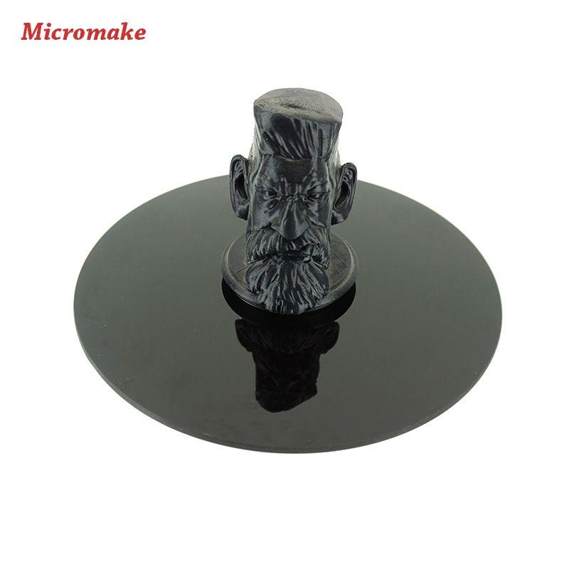 Micromake 3D Printer Accessories Printing Platform Black Crystal Panel Diameter 20cm thickness 4mm