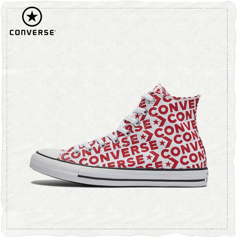 Converse Offizielle Chuck Taylor Alle Sterne Hohe Hilfe Unisex Skateboard Schuhe Lace-Up Flache Sneaksers # 163953c