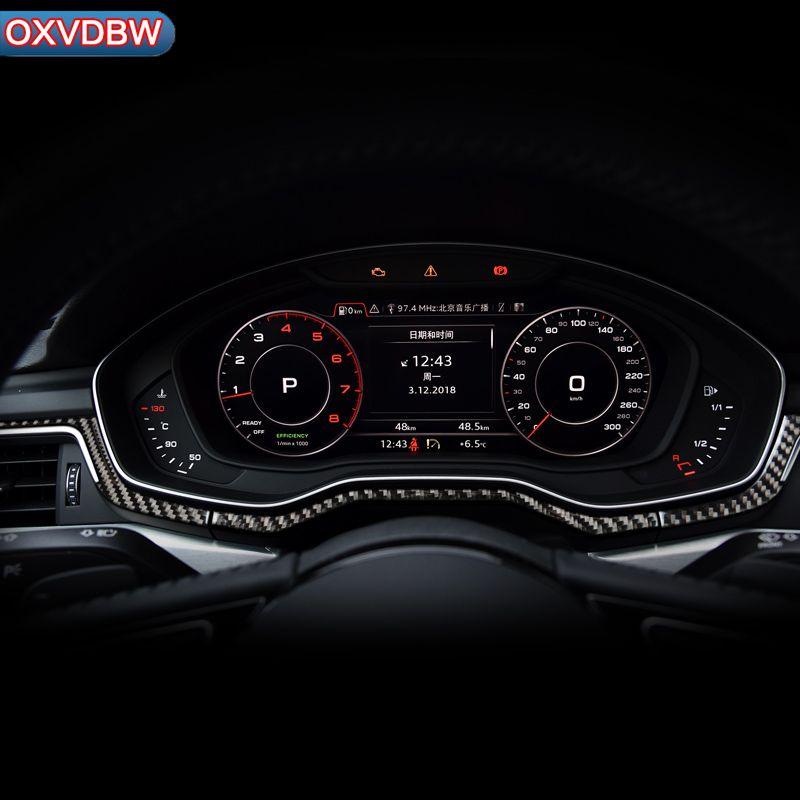 Innen Zentrale steuerung Panel Instrument konsole Dekoration Streifen carbon faser Auto aufkleber für Audi a4 b9 LHD RHD Zubehör