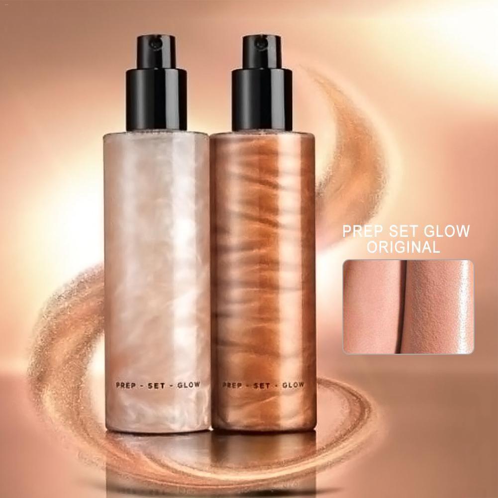 Bronzant surligneur liquide réglage Spray illuminateur visage miroitant longue durée illuminer lueur visage surligneur maquillage visage