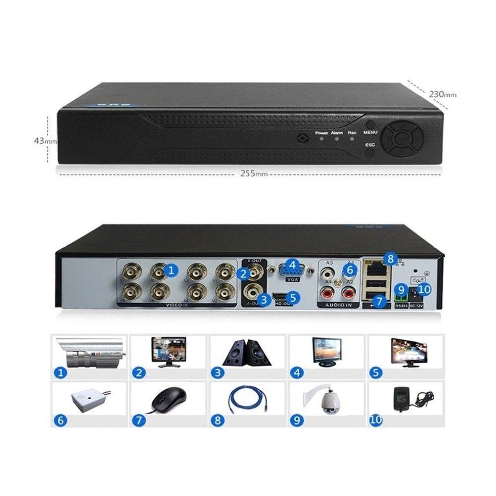 4/8 kanäle 1080 p H.264 DVR Monitor Sicherheit NVR 960 H Recorder DVR P2P Festplatte Video Recorder Digital Analog 1 maschine 3 Verwendet