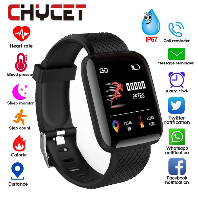 Smart Bracelet Blood Pressure Measurement Waterproof Fitness Tracker Watch Heart Rate Monitor Pedometer Smart Band Women Men