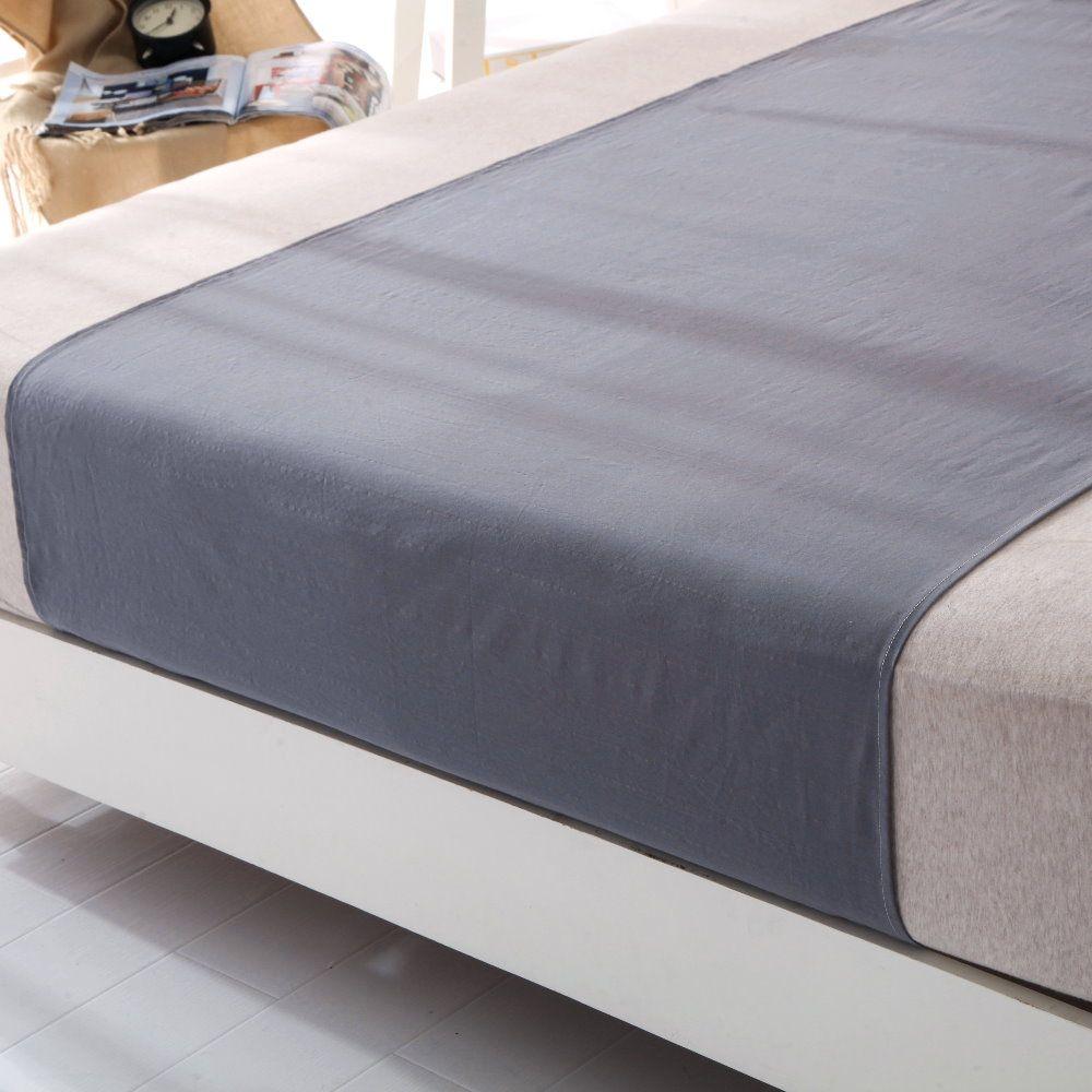Pour livraison directe gratuite MISE À LA TERRE d'origine gris Moitié drap de lit 1 pièces 90*250 cm en gros