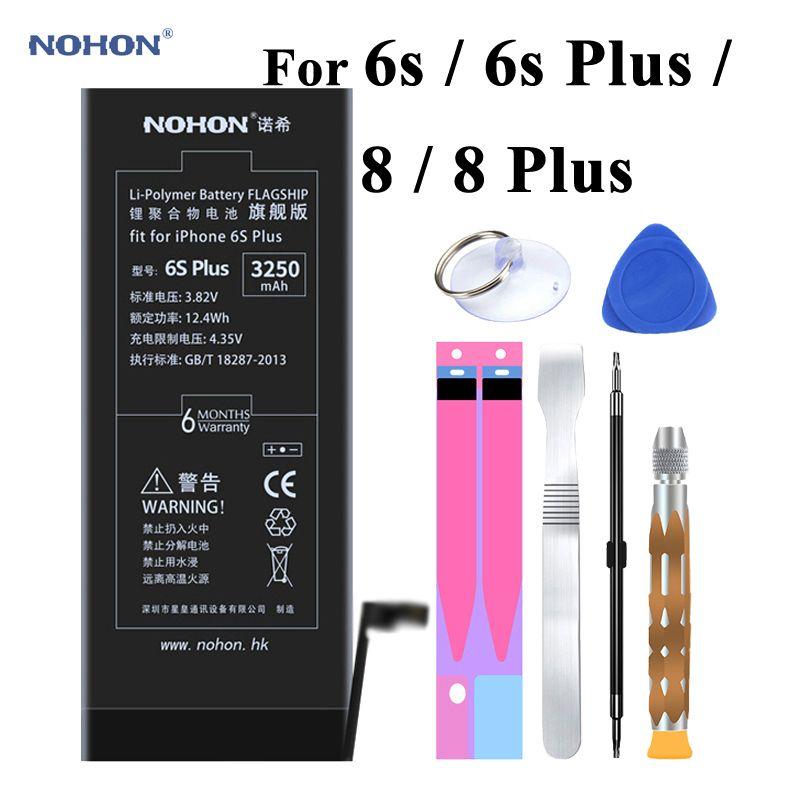 Batterie d'origine Nohon pour Apple iPhone 6 s Plus 6splus 8 8plus Batteries li-polymère intégrées + outils pour iPhone 6 s 8 Plus batterie