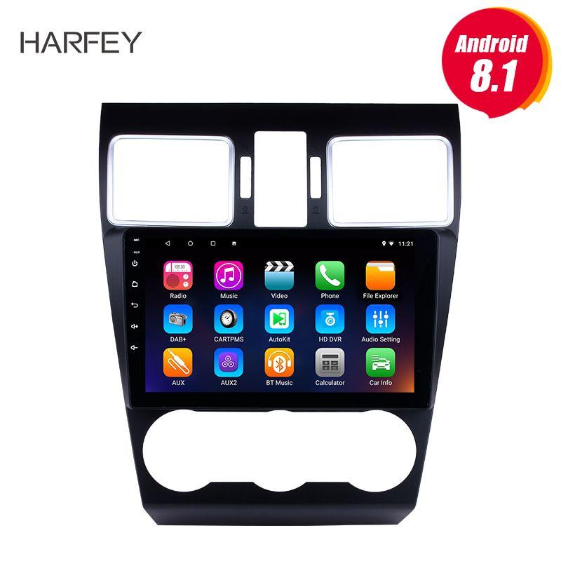 Harfey Android 8.1 Radio TouchScreen Bluetooth GPS Navi 9 Für 2015 2016 2017 Subaru Forester Unterstützung 3G WiFi TPMS DVR OBD II