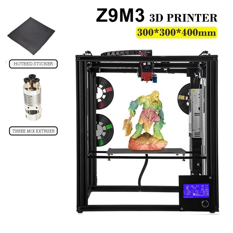 ZONESTAR Voll Metall Große Größe Aluminium Rahmen 3D Drucker Impressora DIY Kit Dule Extruder Mix Farbe Auto Level Laser Gravur