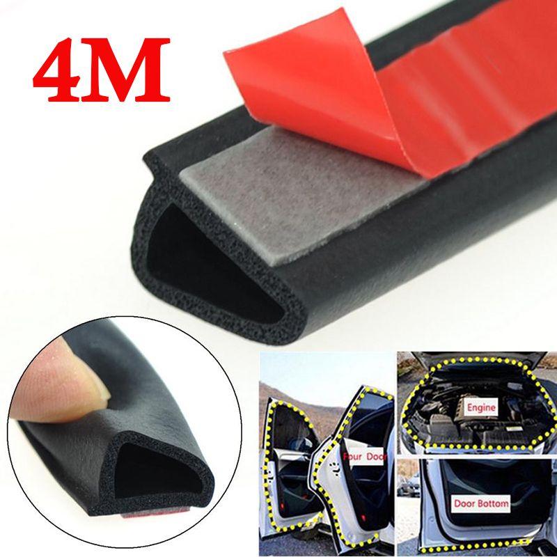 1pc 4m EPDM caoutchouc incliné D en forme de voiture porte joint bande coffre capot bord isolation garniture haute qualité Auto étanchéité bandes