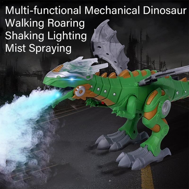 Électrique Dinosaures Modèle Jouets de Marche Pulvérisation Dinosaure Robot Avec Lumière et Son Swing Simulation Dinosaure Jouet Pour Garçon Cadeau