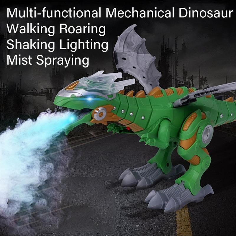 Electric Dinosaurs Model Toys Walking Spray Dinosaur Robot With Light Sound Swing Simulation Dinosaur Toy For Boy Gift