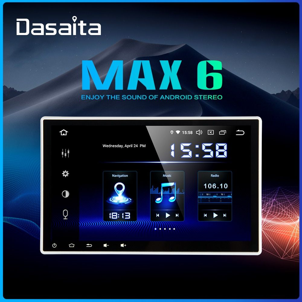 Dasaita 10,2 2 Din Auto Radio GPS Android 9.0 DSP Universal Auto Stereo Touch Screen Bluetooth GPS Navigation System