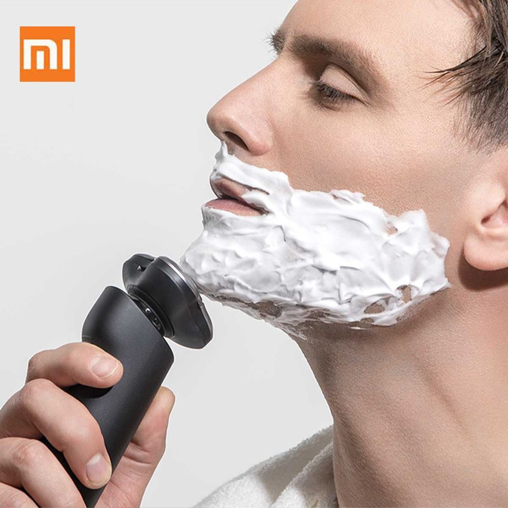 Xiaomi Mijia Électrique Rasoir 3 Tête Flex Rasoir Sec Humide Rasage Lavable Principal-Sous Double Lame Turbo Mode Confortable propre Pour Hommes