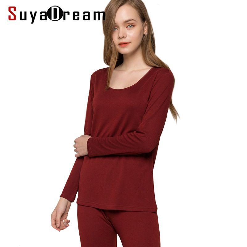 Frauen lange unterhosen 30% Natürliche seide 70% Wolle Dessous anzug langarm schlaf tragen cueca 2018 HERBST WINTER NEUE ROSA ROT NACKT