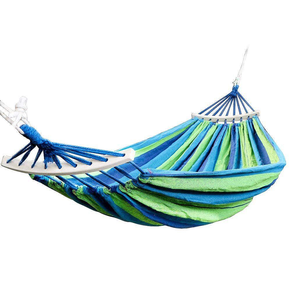 Promotion! Double hamac 450 Lbs Portable voyage Camping suspendu hamac balançoire chaise paresseux toile hamacs
