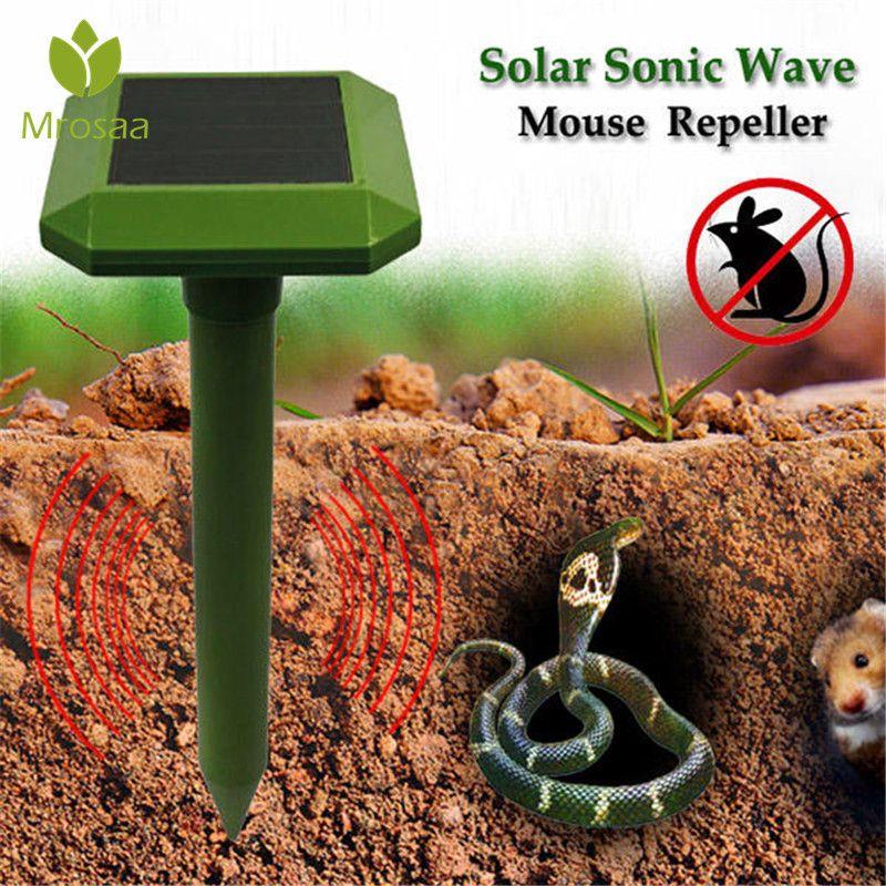 Neue Solar Power Welle Maus Schlange Repeller Outdoor Garten Tier Solar Power Tier Dispeller Outdoor Garten Tier Scarer