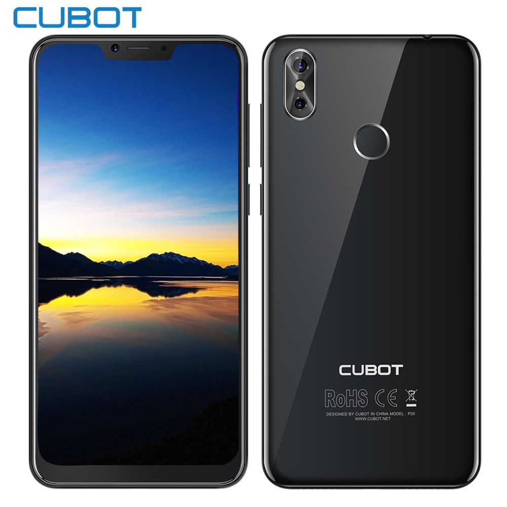 2018 CUBOT P20 4g Phablet 6,18 zoll Android 8.0 MTK6750T Octa Core 4 gb RAM 64 gb ROM Smartphone 2246*1080 20MP + 2.0MP Telefone