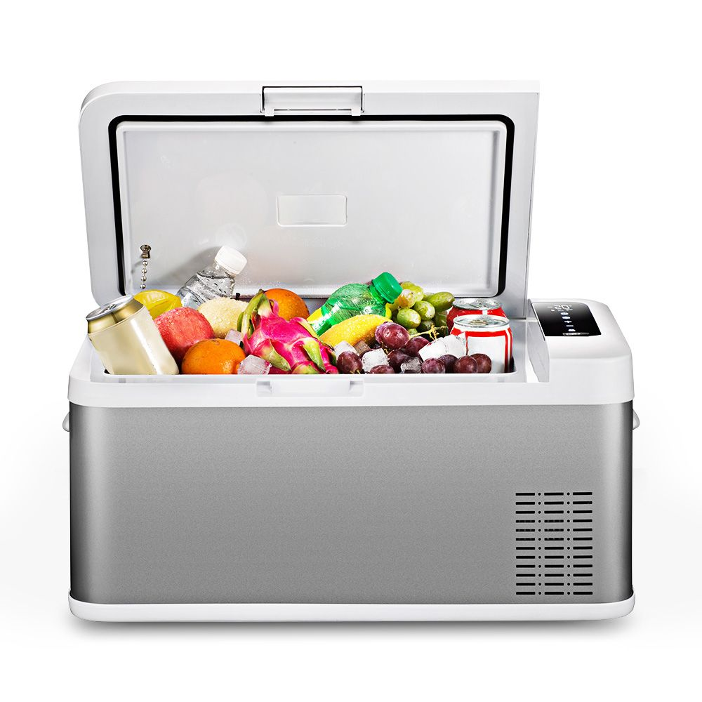 BK - 18 Car Refrigerator 18L AC / DC Portable Large Capacity Touch Screen Control Easy for Moving Home Picnic Camping Party