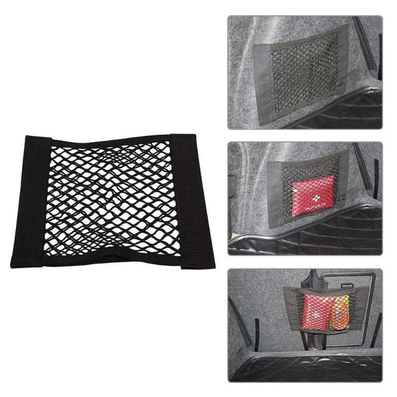 Dual Layer Car Back Rear Trunk Seat Elastic String Net Mesh Storage Bag Pocket Cage Car Styling Interior Organizer Bags Hot Sale