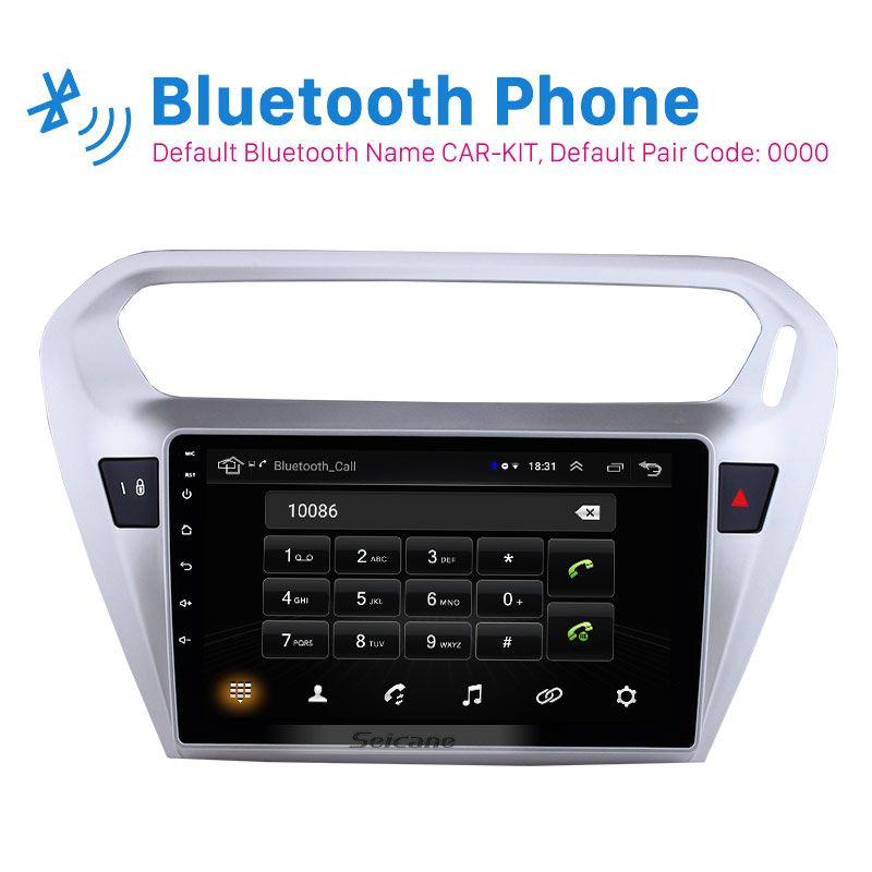 Seicane Für Citroen Elysee Peguot 301 2013 2014 2015 Android 8.1 9 zoll Auto Einheit Player GPS Navigation Unterstützung TPMS DVR OBDII