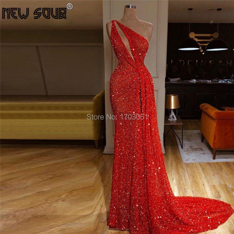 Dubai Kaftans Schulter Prom Kleid Rot Transparent Abendkleider Robe De Soiree Longue 2019 Nahen Osten Arabisch Party Kleider