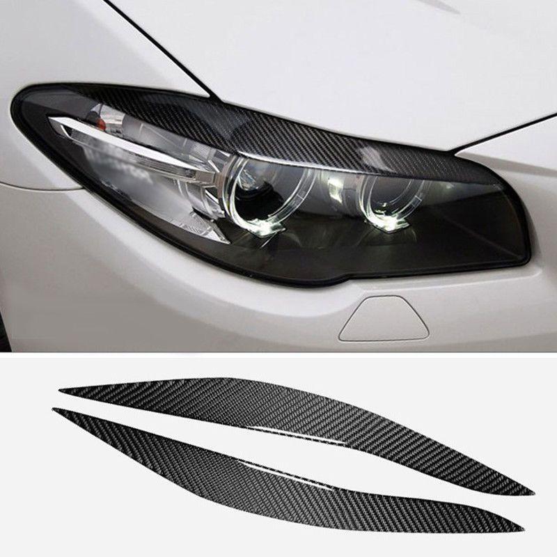 Paar Für BMW 5 Series F10 2010-2013 Scheinwerfer Abdeckung Augenlid Augenbraue Auge Deckel Stirn
