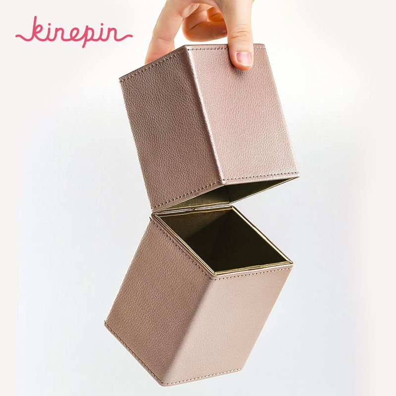 JELLEND Magnétique Vide Portable Maquillage Brosse Ronde Stylo Titulaire Cosmétique Outil PU En Cuir Tasse Conteneur Brosses Organisateur