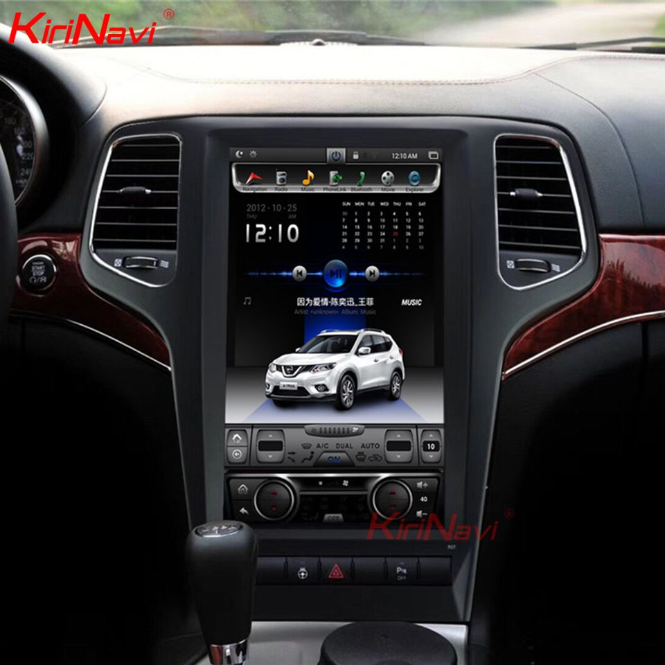 KiriNavi 13,6 Bildschirm Android 8.1 Für JEEP grand cherokee Auto DVD Radio Audio GPS Navigation Monitor Multimedia Spielen 2009- 2013