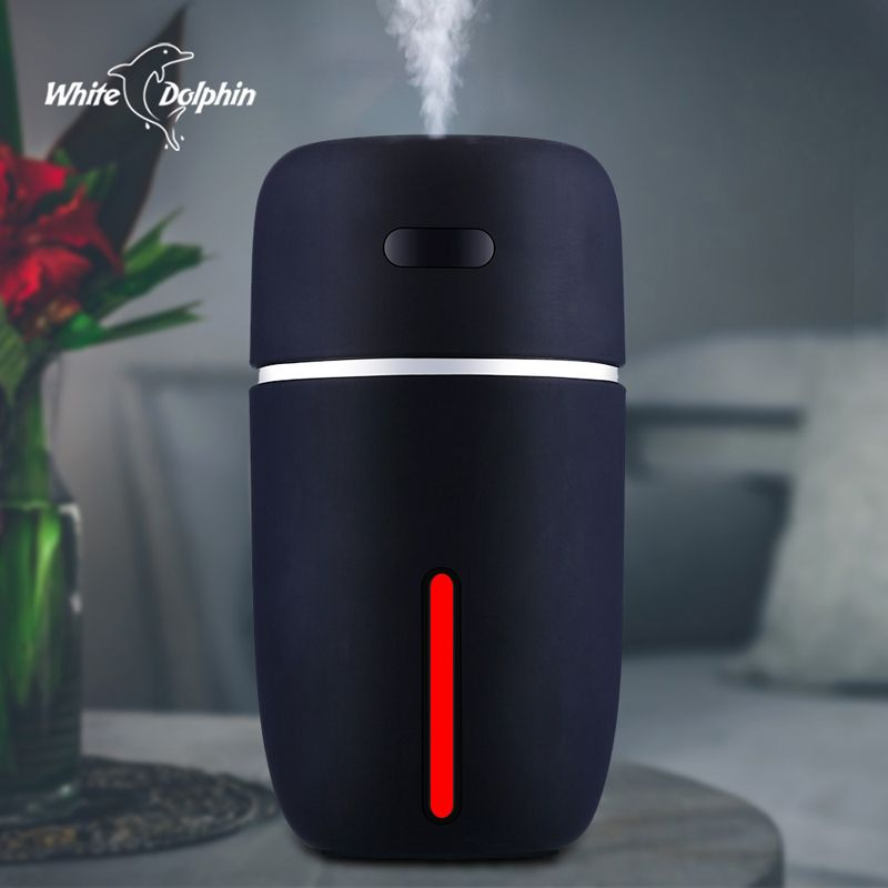Blanc Dauphin Mini USB Air Humidificateur D'huile Essentielle Diffuseur LED Ultrasons Mist Maker Fogger Humidificateur De Voiture USB Aroma Diffuseur