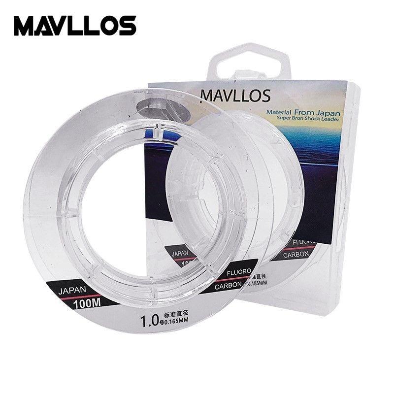 Mavllos Full Sink Fluorocarbon Fishing Line 50m 100m 100% Monofilament Carp Fishing Lines Leader Japanese Carbon Fiber Line