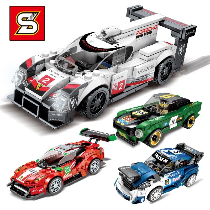 Supercar Racing Car modèle de voiture de course 2019 Super Racers City Super Racers blocs de construction briques enfants jouets ensembles D28