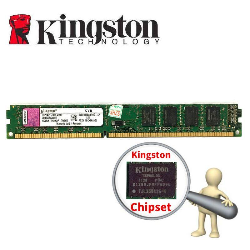 Kingston PC mémoire RAM Memoria Module ordinateur de bureau DDR3 2GB 4GB 8gb PC3 1333 1600 MHZ 1333MHZ 1600 MHZ 2G DDR2 800MHZ 4G 8g