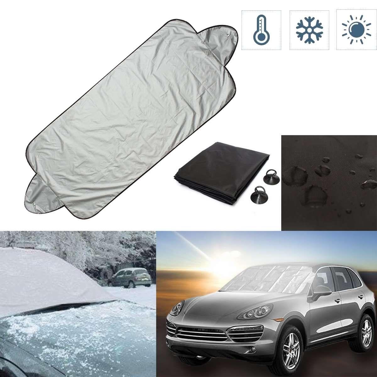 146x70 cm Universal Verhindern Schnee Eis Sonnenschutz Staub Frost Einfrieren Auto Windschutzscheibe Abdeckung Protector Für VW-HONDA-TOYOTA-BMW