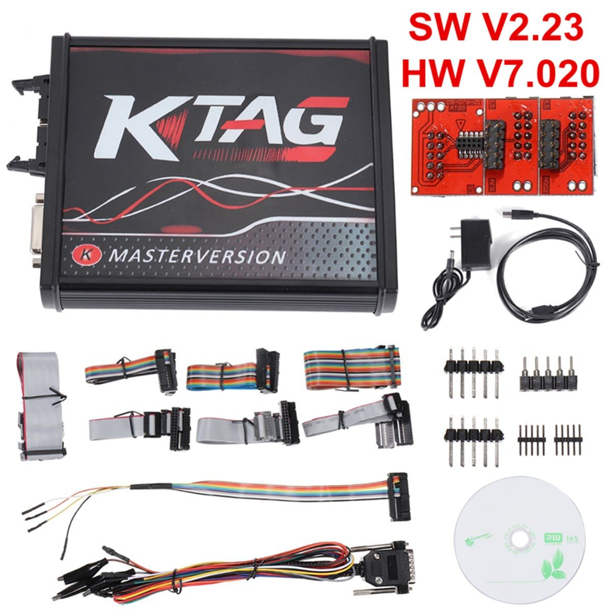 For V2.23 KTAG ECU Programmer Cable Tool V7.020 PCB Online Version Unlimited Token Auto Car Vehicles Repair Tools Diagnosis Kit