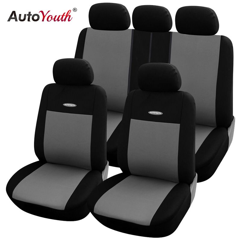 High Quality Car Seat Covers Polyester 3MM Composite Sponge <font><b>Universal</b></font> Fit Car Styling for lada Toyota seat cover car accessories