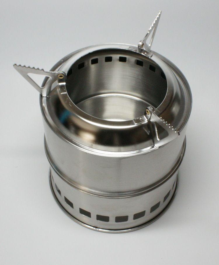 Cuisine extérieure pliée pique-nique Camping poêle Portable en acier inoxydable léger poêle à bois solidifié poêle à alcool