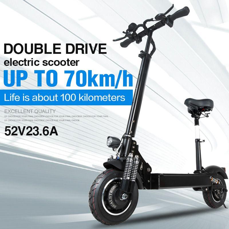Janobike elektrische roller doppel stick 52 V 2000 W mit sitz 10 zoll road reifen klapp elektrische motorrad pedal städtischen straße erwachsene