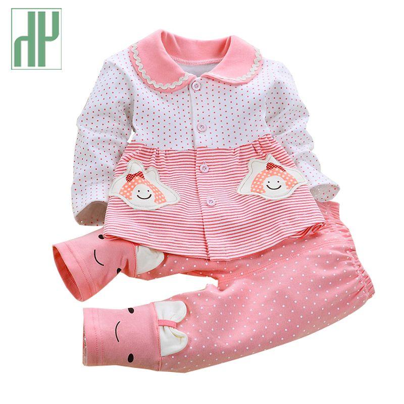 Nouveau-né Bébé fille vêtements printemps automne bébé vêtements ensemble coton Enfants infantile vêtements À Manches Longues Tenues 2 Pcs bébé survêtement ensemble