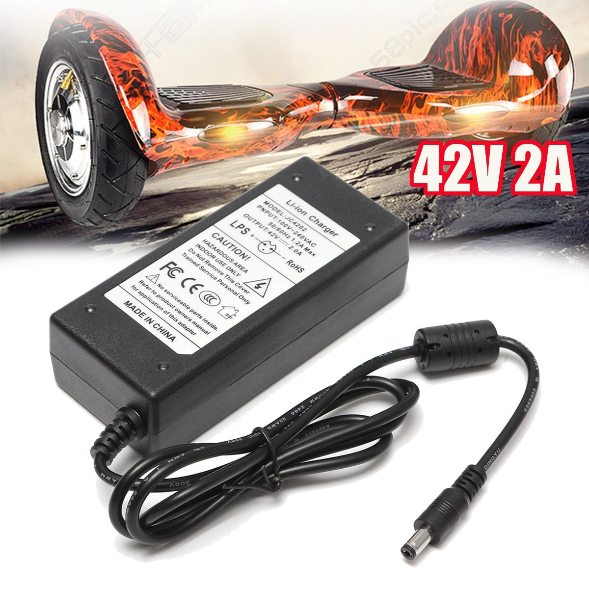 2A 42V Power Charger Adapter For 36V Li-ion Lithium Battery Two-wheel Vehicle Chargers