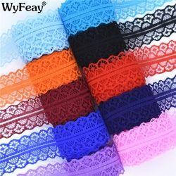 Высокое качество 10 ярдов кружево, лента, тесьма ширина 28 мм Отделка ткани своими руками, вышитое Тюлевое шнур для шитье украшения африканска...