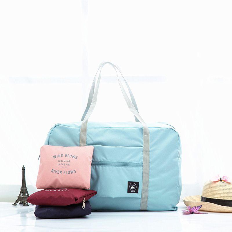 Sacs de voyage en Nylon imperméables femmes hommes grande capacité sac de sport pliant organisateur Cubes d'emballage bagage fille sac de week-end