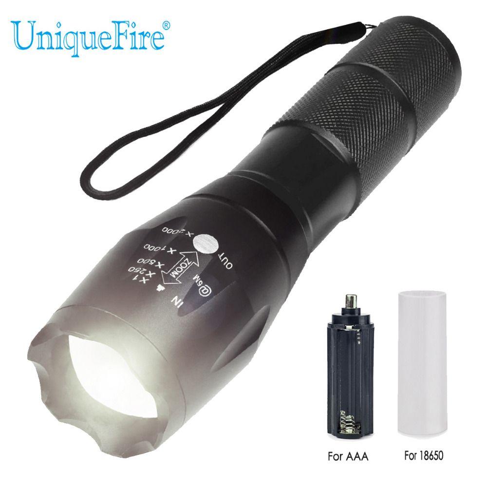 UniqueFire BTC 03 XM-L2 20000 Lumen 5 Modes Zoomables Puissant led Mise À Niveau lampe de Poche Réglable lampe à lentille torche de camping