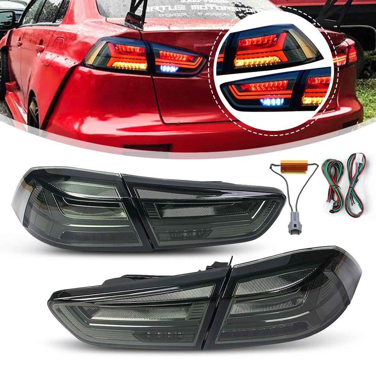 1 paar für Mitsubishi Lancer EVO x 2008-2017 Hinten LED Schwanz Bremse Licht Lampe Schwanz Licht Signal LED DRL Stop Hinten Lampe Zubehör